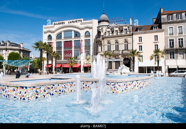 France, Pyrenees Atlantiques, Bearn, Pau, the place Clemenceau (Clemenceau Square) - Stock Image
