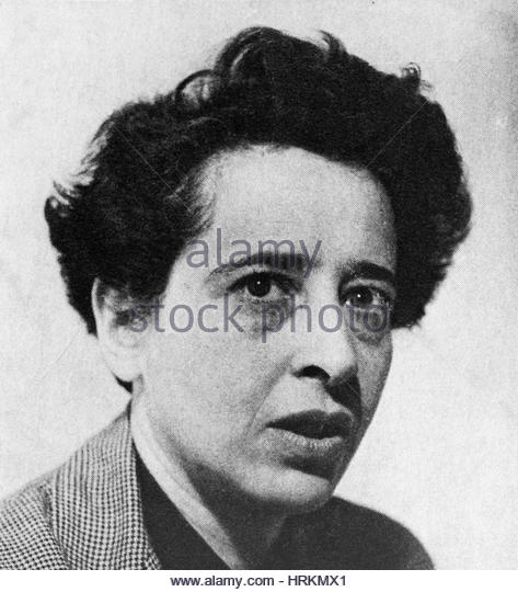Hannah Arendt, German-American Political Theorist - Stock Image