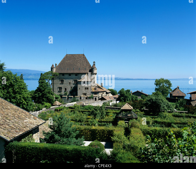 Lac leman stock photos lac leman stock images alamy for Jardin 44 des 5 sens