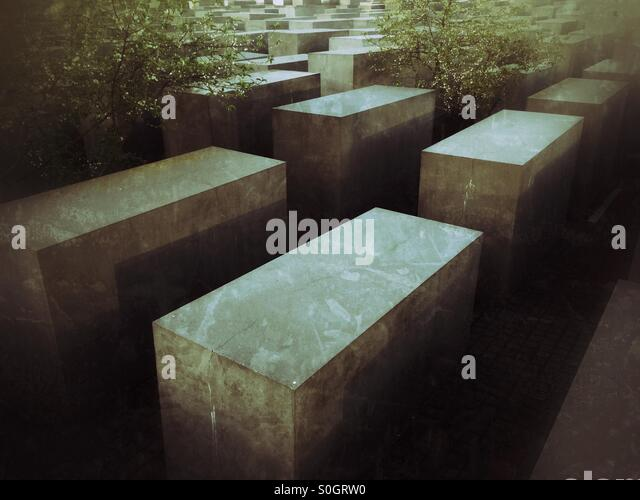 Holocaust memorial Berlin - Stock Image