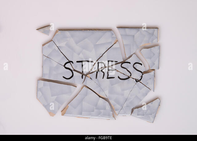 overcome stress - Stock Image