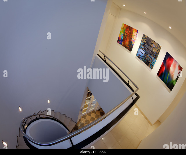 ARCHITECTURE: Private Gallery Display (Germany/Bad Toelz) - Stock Image