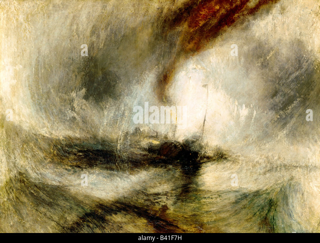 fine arts, Turner, Joseph Mallord William (1775 - 1851), painting 'Snow Storm', 1842, oil on canvas, Tate - Stock Image