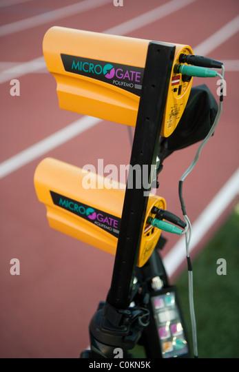 Athletics track Finish digital instrument - Stock Image