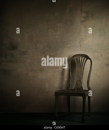 Real photo of classic armchair - Stock Image