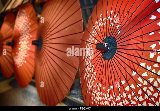 Umbrellas of Kyoto, Japan - Stock Image