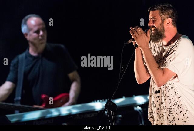 Cartagina, Spain. 18th July, 2017. Australian singer, Scott Matthew during his performance at La Mar de Musicas - Stock Image