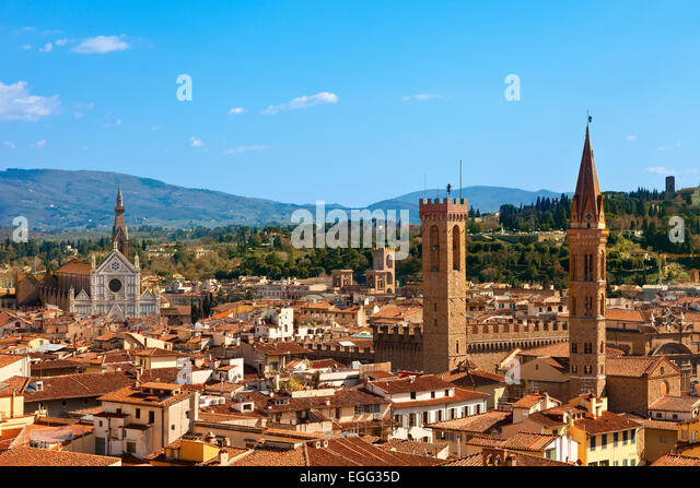 Italy, Skyline of Florence - Stock Image