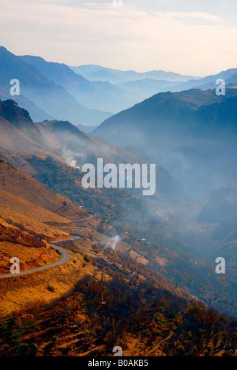 General view of Hawraman Valley, Kurdistan, Iran. - Stock Image