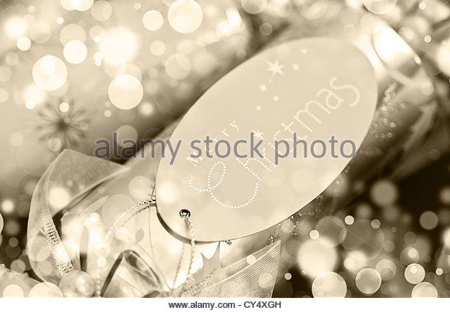 Christmas cracker label - Stock Image