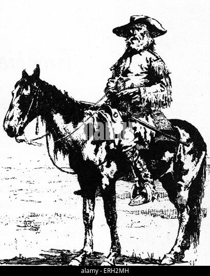 Jim Bridger, American explorer of the West. March 1804 – July 1881. - Stock Image