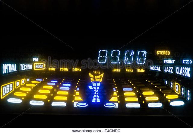 FM Tuner Equalizer - Stock-Bilder