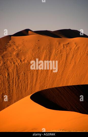 Sossusvlei sand dune, Naukluft Park, Namibia - Stock Image