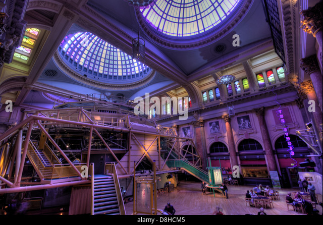 Interior Royal Exchange Theatre Grade II listed building , St Anns Square Manchester Lancashire England UK - Stock Image