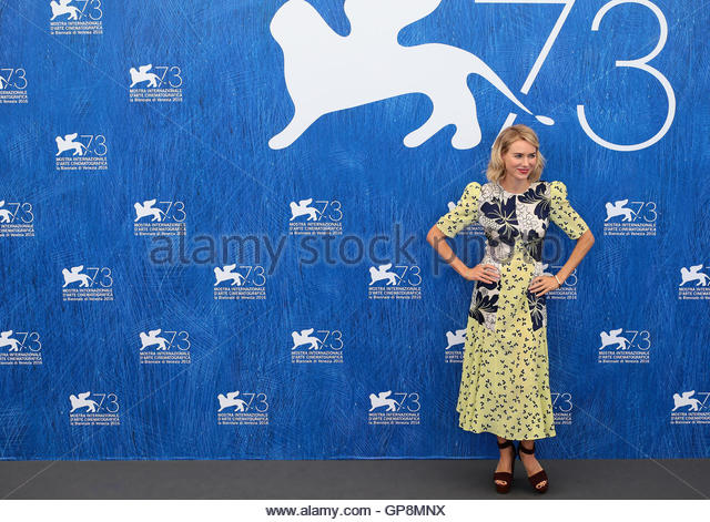 Venice, Italy. 02 September, 2016. Naomi Watts attends the photocall of 'The Bleeder ' during the 73rd Venice - Stock Image