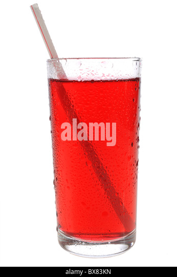 Red juice - Stock Image