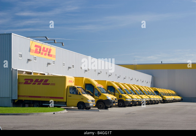 dhl parcel delivery van stock photos dhl parcel delivery van stock images alamy. Black Bedroom Furniture Sets. Home Design Ideas