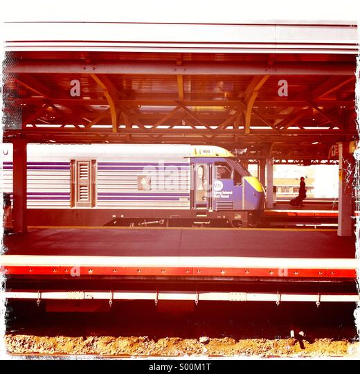 LIRR train at Jamaica Station, New York - Stock Image