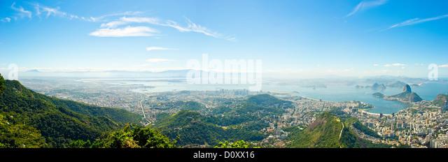 Rio de Janeiro panorama, Brazil - Stock Image