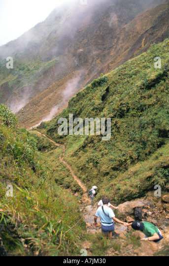Dominica West Indies Caribbean Hiking Valley of Desolation - Stock Image