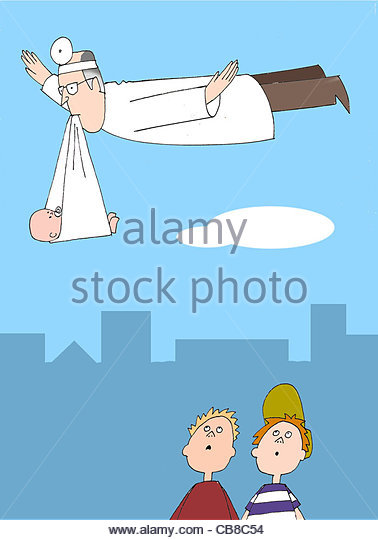 Doctors baby - Stock Image