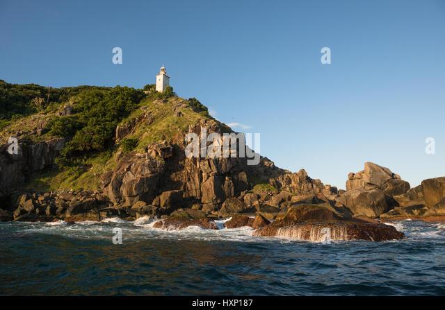 Ponta do Boi lighthouse in Ilhabela - Stock Image