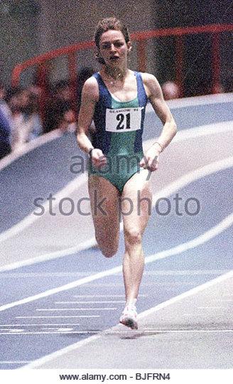 23/01/94 SCOTTISH INDOOR ATHLETICS CHAMPIONSHIP KELVIN HALL - GLASGOW Scottish athlete Melanie Neef in action - Stock Image