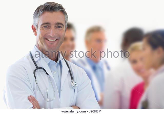 Portrait Of Medical Team In Modern Hospital - Stock-Bilder