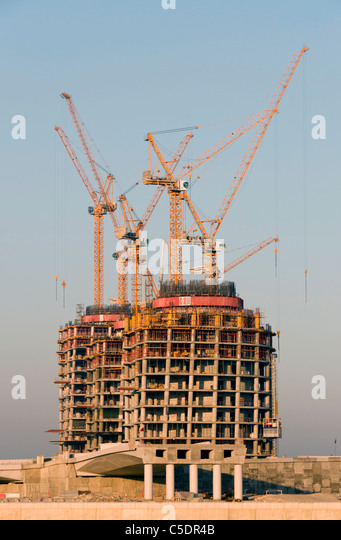 Elk204-1012v Bahrain, Manama, building construction and cranes - Stock Image
