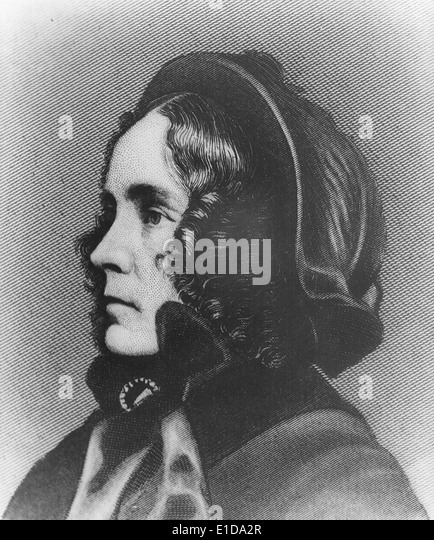 Mrs Franklin Pierce, First Lady of the United States from 1853 - 1857, circa 1850 - Stock Image
