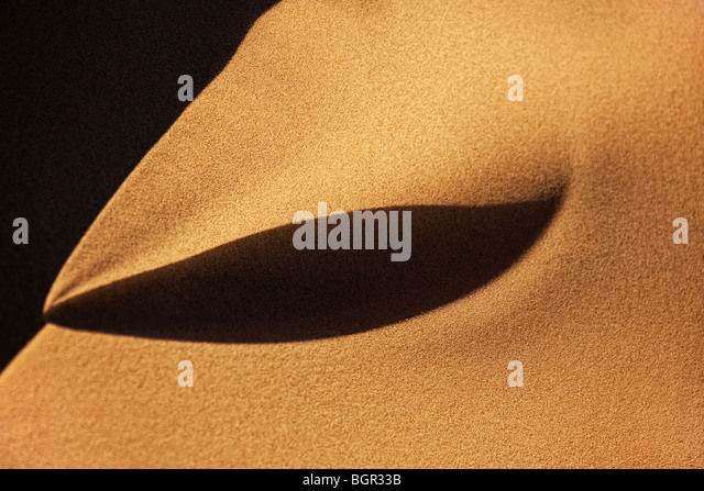 closeup of desert sand - Stock Image