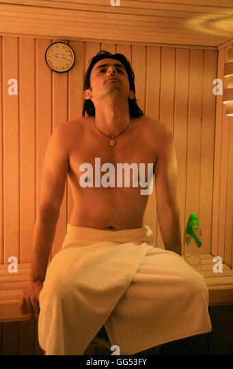 man sauna not woman stock photos man sauna not woman stock images alamy. Black Bedroom Furniture Sets. Home Design Ideas