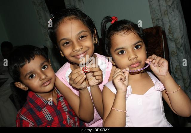 Kerala Baby Girl Stock Photos & Kerala Baby Girl Stock