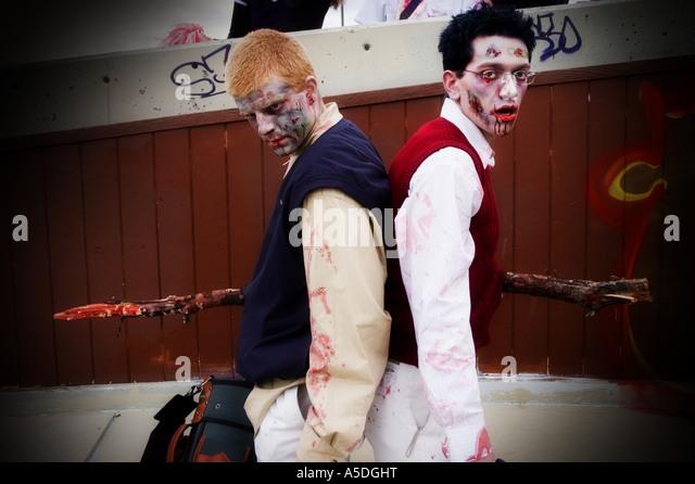 Stock photo of zombies at the 2006 Calgary Zombie Walk - Stock Image