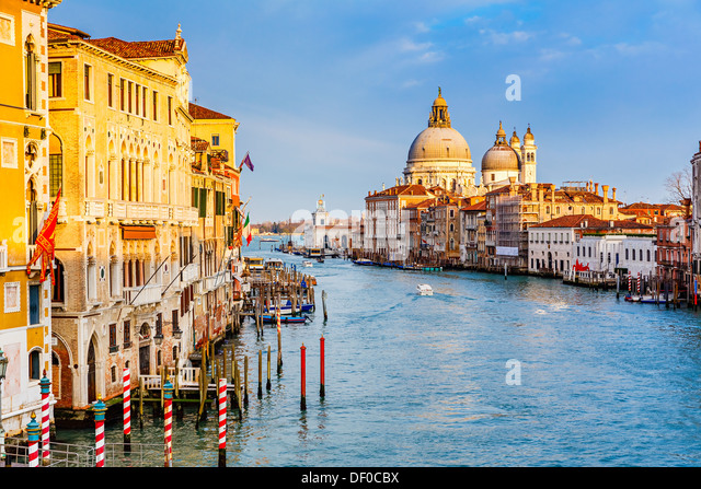 Grand Canal at sunset - Stock-Bilder