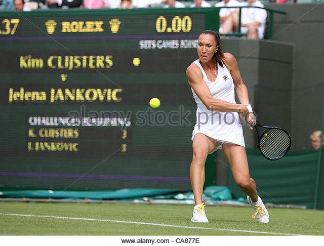 25/06/2012 - Wimbledon (Day 1) - Kim CLIJSTERS (BEL) vs. Jelena JANKOVIC (SRB) - Jelena Jankovic - Photo: Simon - Stock-Bilder