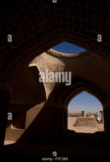 Zoroastrian Old Building, Yazd Province, Yazd, Iran - Stock Image