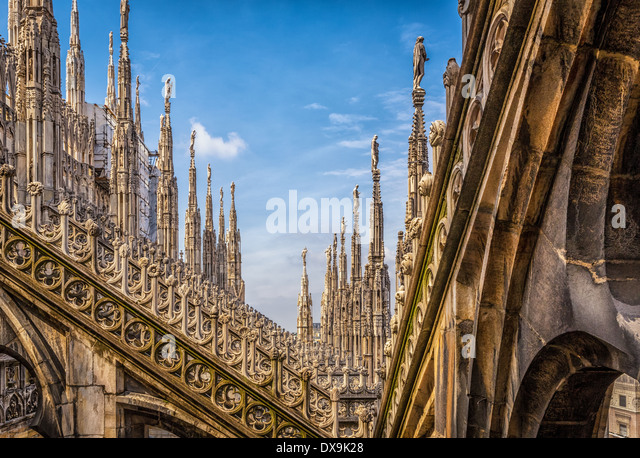 Milan Duomo, Cathedral, Milan, Italy - Stock Image