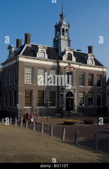 Building on main square, Edam, Netherlands, Europe - Stock Image