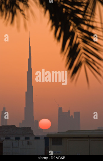 Burg Al Khalifa at sunset - Stock Image