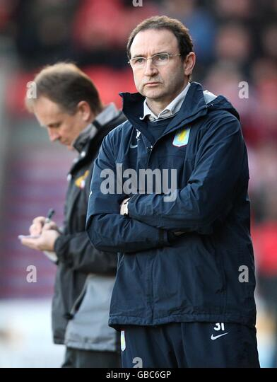 Soccer - FA Cup - Fourth Round - Doncaster Rovers v Aston Villa - Keepmoat Stadium - Stock Image