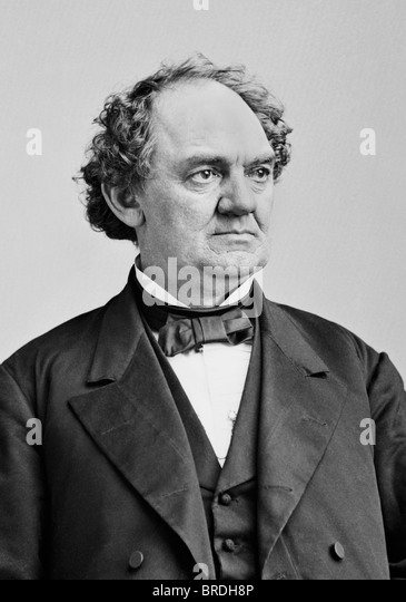 Portrait photo c1860 of 19th century American showman, businessman and circus founder Phineas Taylor Barnum (1810 - Stock-Bilder
