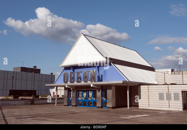The 'Odeon Cinema' entrance in Sheffield,England,'Great Britain','United Kingdom',GB,UK,EU - Stock Image