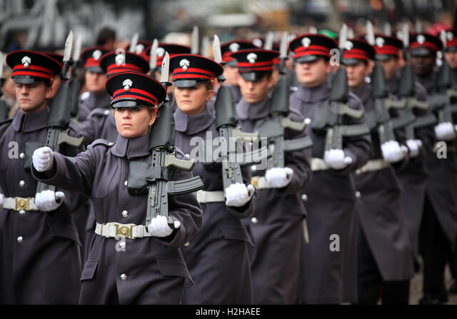 Honourable Artillery Company at the Lord Mayor's Show, London, UK. - Stock Image