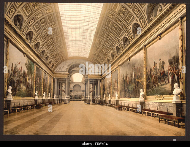 Gallery of Battles, Versailles, France. Date between ca. 1890 and ca. 1900. - Stock Image