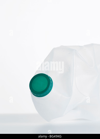 empty plastic bottle - Stock Image