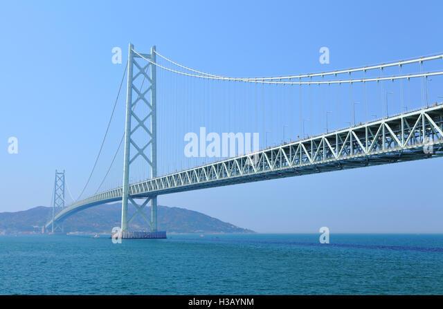 Akashi Kaikyo bridge - Stock Image