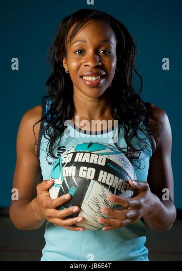 Netball player, Pamela Cookey. - Stock Image