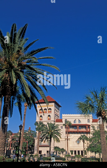 St Augustine, Florida Casa Monica historic hotel - Stock Image