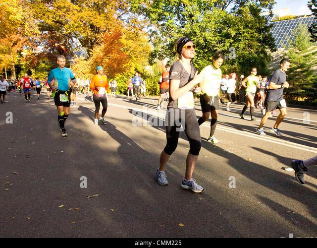 New York, USA. 3rd November 2013. New York Marathon 2013. Marathon Runners NYC 3rd November 2013 © Frank Rocco/Alamy - Stock Image